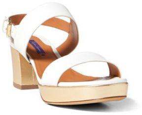 Ralph Lauren Laurean Nappa Sandal White 36.5