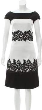 J. Mendel Paneled Lace-Accented Dress w/ Tags