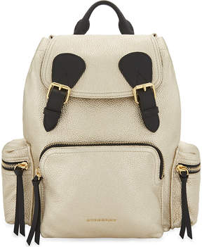Burberry Metallic leather backpack - NUDE GOLD - STYLE