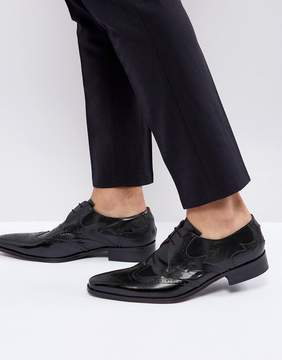 Jeffery West Yardbird Brogue Lace Up Shoes In Black