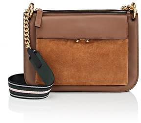 Marni WOMEN'S BANDOLEER LEATHER & SUEDE BAG