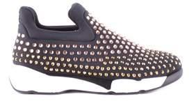 Pinko Women's Black Fabric Sneakers.