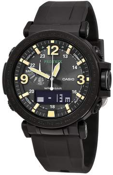 Casio Pro Trek Black Silicone Strap Men's Watch