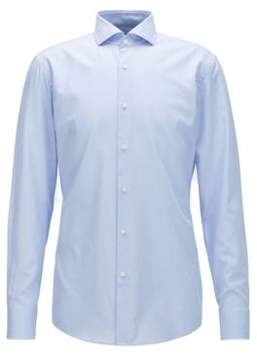 BOSS Hugo Cotton Dress Shirt, Slim Fit Jason 17 Light Blue