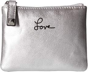 Rebecca Minkoff Betty Pouch-Love Handbags - SILVER - STYLE