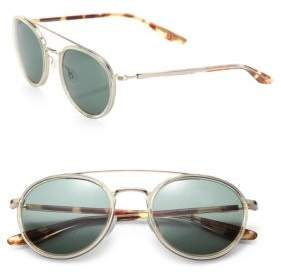 Barton Perreira Round 52mm Acetate & Metal Sunglasses