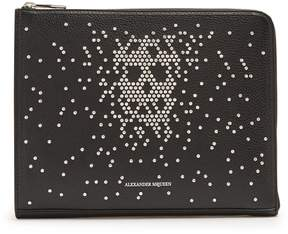 Alexander McQueen Zip-around leather pouch