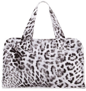 Norma Kamali Animal-Print Rectangle Bag, White Pattern