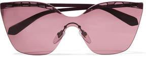 Bvlgari Serpenti Cat-eye Metal Sunglasses - Purple
