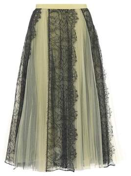 Burberry Tulle and lace midi skirt