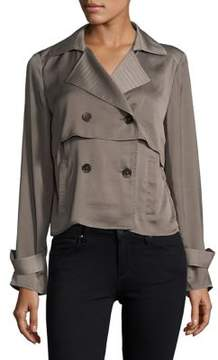Ellen Tracy Soft Cropped Trench Coat
