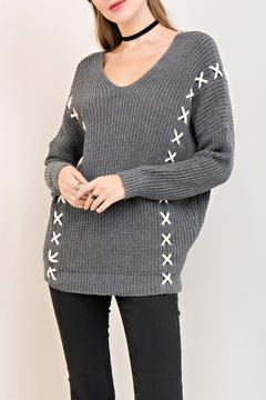 Entro X Lace-Up Sweater