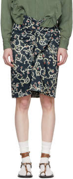Etoile Isabel Marant Navy Caja Skirt