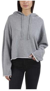 RtA Women's Marvin-Cropped Hoodie - Iron
