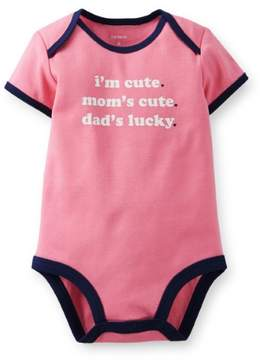 Carter's Baby Clothing Outfit Short Sleeve Bodysuit Pink - I'm Cute
