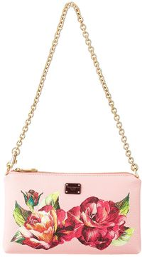 Dolce & Gabbana Leather Rose Clutch - MULTI - STYLE