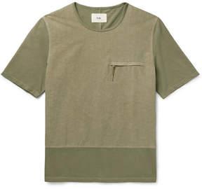 Folk Slim-Fit Panelled Cotton T-Shirt