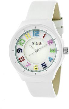 Crayo Atomic Collection CRACR3501 Unisex Watch with Leather Strap