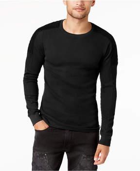GUESS Men's Long-Sleeve Waffle-Knit T-Shirt