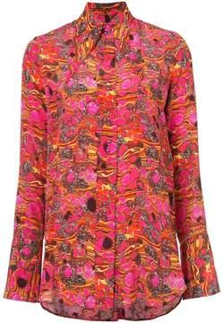 Ellery wing collar abstract shirt