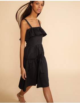Cynthia Rowley | Black Wallflower Ruffle Dress | Xl | Black