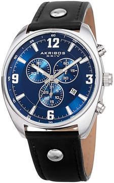 Akribos XXIV Mens Black Strap Watch-A-969bkbu