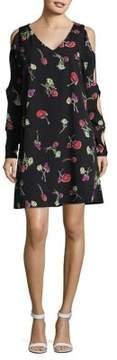 Context Cutout Printed Dress