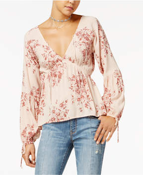 American Rag Juniors' Floral-Print Babydoll Top, Created for Macy's