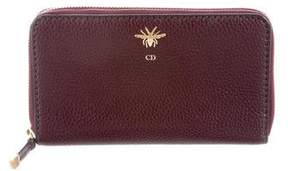 Christian Dior D-Bee Leather Wallet
