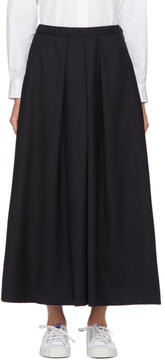 Blue Blue Japan Navy Pleat Skirt Trousers