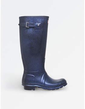 Hunter Ladies Navy Waterproof Original Starcloud Rain Boots