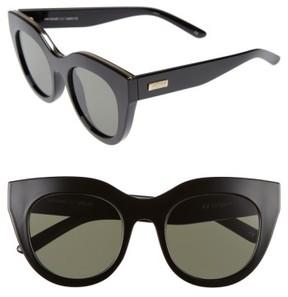 Le Specs Women's Air Heart 51Mm Sunglasses - Black/ Gold