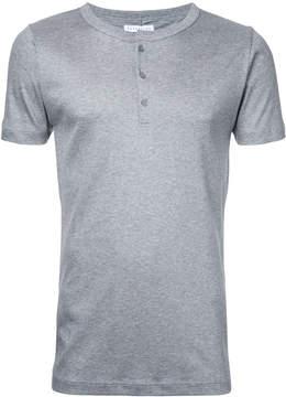 ESTNATION button collar T-shirt