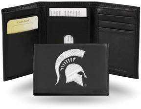 Rico NCAA Embroidered Leather Trifold Wallet - Michigan State