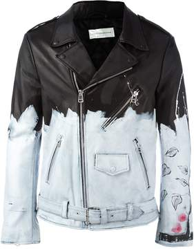 Faith Connexion painted biker jacket