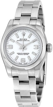 Rolex Lady Oyster Perpetual 26 White Dial Stainless Steel Oyster Bracelet Automatic Watch