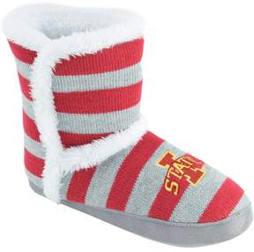 NCAA Women's Iowa State Cyclones Striped Boot Slippers