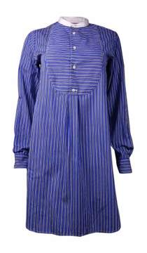 Polo Ralph Lauren Women's Striped Relaxed Fit Shirt Dress (4, Blue/Black)