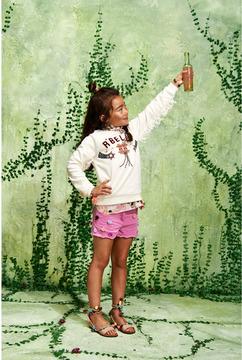 Scotch & Soda Fringed Artwork Sweatshirt