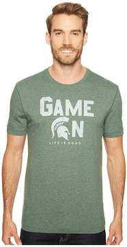 Life is Good Michigan State Spartans Game On Cool Tee