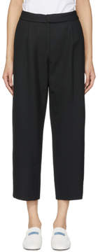 Carven Black Wool Cropped Trousers