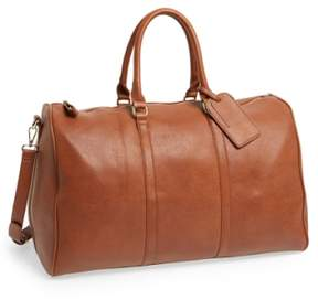 Sole Society 'Lacie' Faux Leather Duffel Bag - Brown