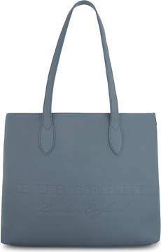 Burberry Remington East/West grained leather tote - DUSTY BLUE - STYLE