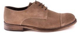 Daniele Alessandrini Men's Beige Suede Lace-up Shoes.