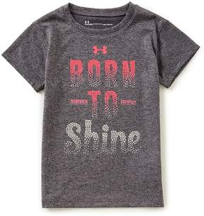 Under Armour Little Girls 2T-6X Short-Sleeve Born To Shine Tee