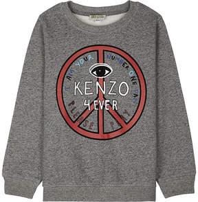 Kenzo 4ever cotton sweatshirt 4-16 years