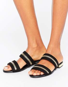 Missguided Zip Double Strap Sandals