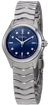 Ebel Wave Blue Galvanic Dial Ladies Watch