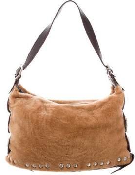 Kieselstein-Cord Shearling Shoulder Bag