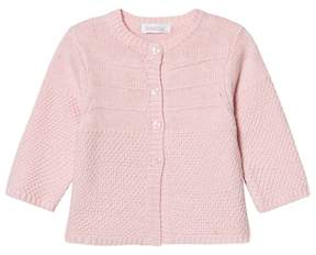 Absorba Pale Pink Cashmere-Cotton Textured Knit Cardigan